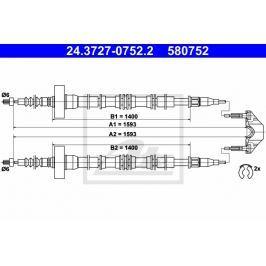 lanko ruční brzdy ATE AT 580752 Brzdové destičky a čelisti