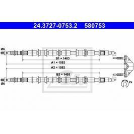 lanko ruční brzdy ATE AT 580753 Brzdové destičky a čelisti