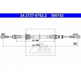 lanko ruční brzdy ATE AT 580762 Auto-moto