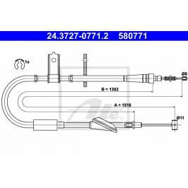 lanko ruční brzdy ATE AT 580771 Auto-moto