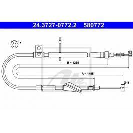 lanko ruční brzdy ATE AT 580772 Auto-moto