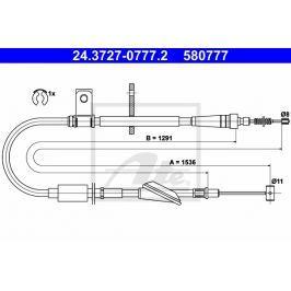 lanko ruční brzdy ATE AT 580777 Auto-moto