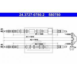 lanko ruční brzdy ATE AT 580780 Brzdové destičky a čelisti