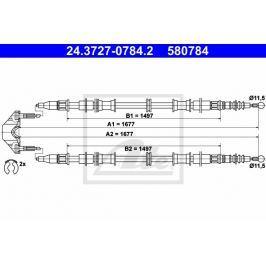 Tažné lanko, parkovací brzda ATE AT 580784 Brzdové destičky a čelisti