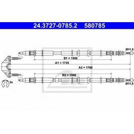 lanko ruční brzdy ATE AT 580785 Brzdové destičky a čelisti