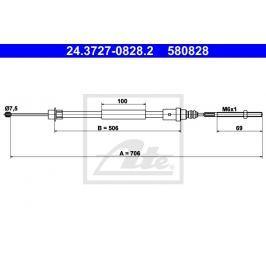 lanko ruční brzdy ATE AT 580828 Auto-moto