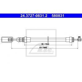 lanko ruční brzdy ATE AT 580831 Auto-moto