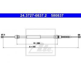 Tazne lanko, parkovaci brzda ATE AT 580837 24.3727-0837.2 ATE Auto-moto