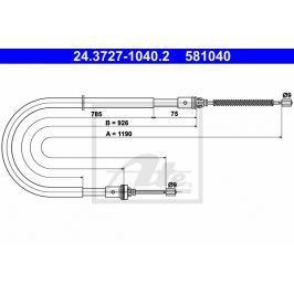 lanko ruční brzdy ATE AT 581040 Auto-moto