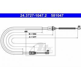 lanko ruční brzdy ATE AT 581047 Auto-moto
