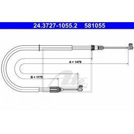 lanko ruční brzdy ATE AT 581055 Auto-moto