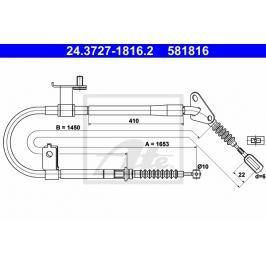 lanko ruční brzdy ATE AT 581816 Brzdové destičky a čelisti