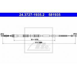 Tazne lanko, parkovaci brzda ATE AT 581935 Brzdové destičky a čelisti