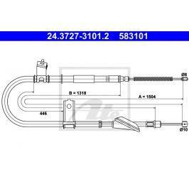 lanko ruční brzdy ATE AT 583101 Auto-moto
