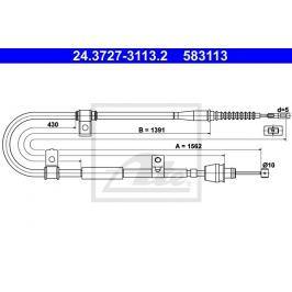 Tazne lanko, parkovaci brzda ATE AT 583113 Brzdové destičky a čelisti