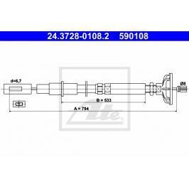 spojkové lanko ATE AT 590108 Auto-moto