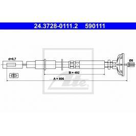 spojkové lanko ATE AT 590111 Auto-moto