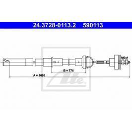 spojkové lanko ATE AT 590113 Auto-moto
