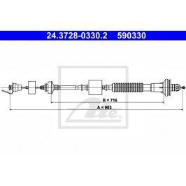 Tažné lanko, ovládání spojky ATE AT 590330