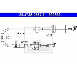 Tažné lanko, ovládání spojky ATE AT 590332
