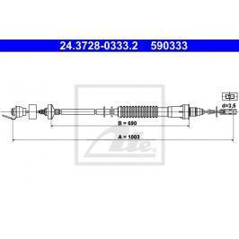 Tazne lanko, ovladani spojky ATE AT 590333