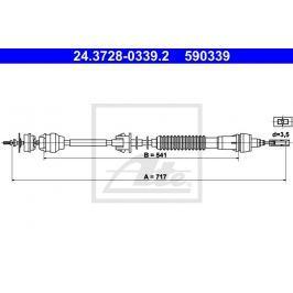 Tažné lanko, ovládání spojky ATE AT 590339