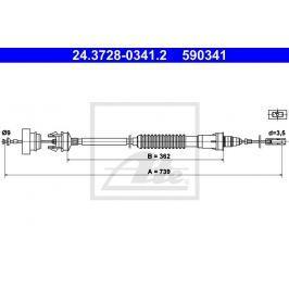 Tažné lanko, ovládání spojky ATE AT 590341