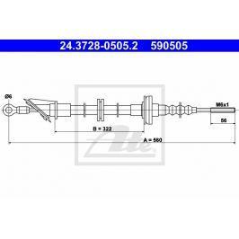 spojkové lanko ATE AT 590505 Auto-moto