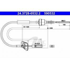 spojkové lanko ATE AT 590532 Auto-moto
