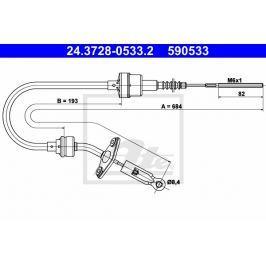 Tazne lanko, ovladani spojky ATE AT 590533