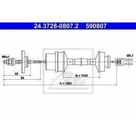 spojkové lanko ATE AT 590807 Auto-moto