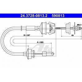 spojkové lanko ATE AT 590813 Auto-moto