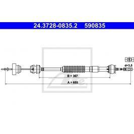 Tažné lanko, ovládání spojky ATE AT 590835