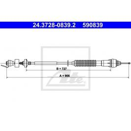 Tažné lanko, ovládání spojky ATE AT 590839