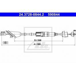 Tazne lanko, ovladani spojky ATE AT 590844 Auto-moto