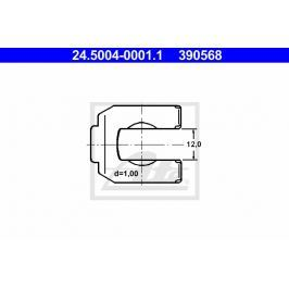 Držák, brzdové hadice ATE AT 390568 Auto-moto