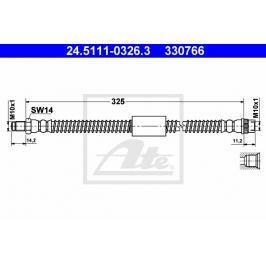 Brzdová hadice ATE AT 330766