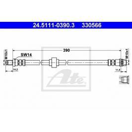 Brzdová hadice ATE AT 330566