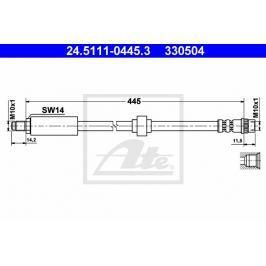Brzdová hadice ATE AT 330504 Auto-moto