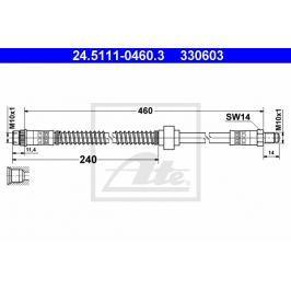 Brzdová hadice ATE AT 330603