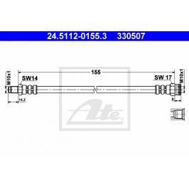 Brzdová hadice ATE AT 330507