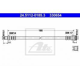 Brzdová hadice ATE AT 330654