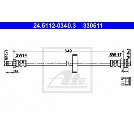 Brzdová hadice ATE AT 330511