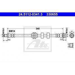 Brzdová hadice ATE AT 330655 Auto-moto
