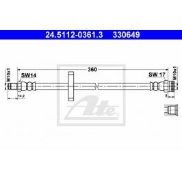 Brzdová hadice ATE AT 330649