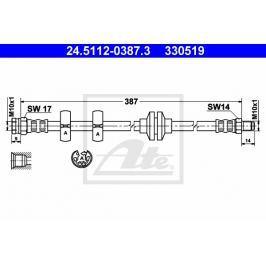 Brzdová hadice ATE AT 330519
