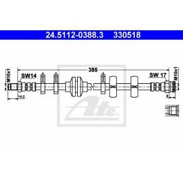 Brzdová hadice ATE AT 330518