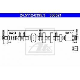 Brzdová hadice ATE AT 330521