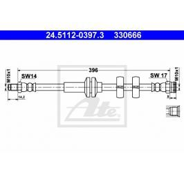 Brzdová hadice ATE AT 330666 Auto-moto