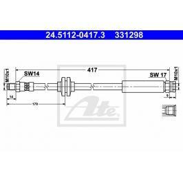 Brzdová hadice ATE AT 331298 Auto-moto
